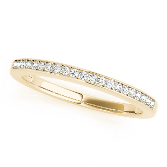 Diamond Accented Wedding Band in 18k Yellow Gold (0.17ct)