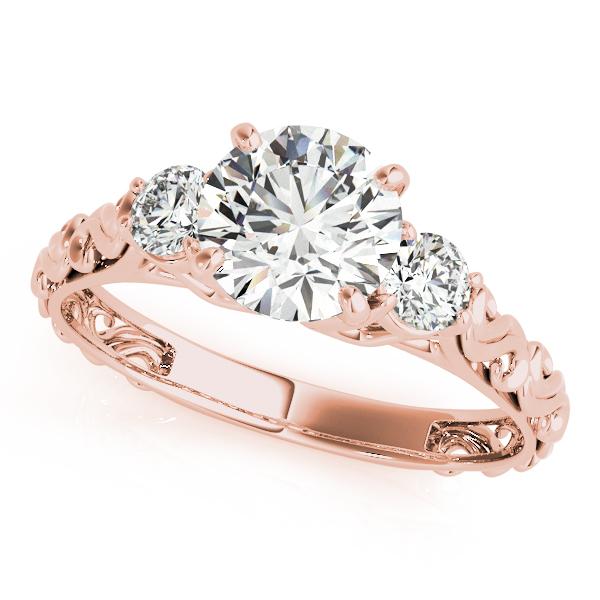 Vintage Heirloom Three Stone Engagement Ring 14k Rose Gold (2.25ct)