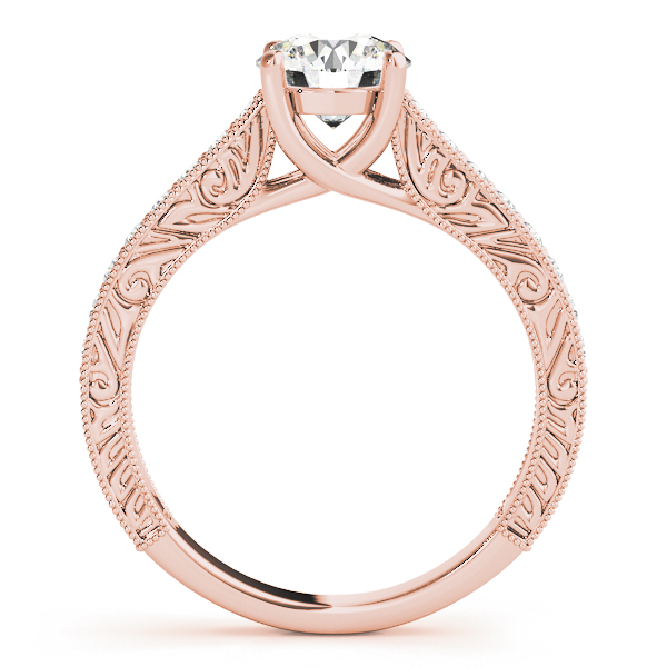 Vintage Round Cut Diamond Engagement Ring 14k Rose Gold (2.25ct)