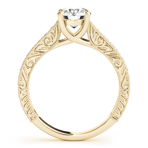 Vintage Round Cut Diamond Engagement Ring 14k Yellow Gold (2.25ct)