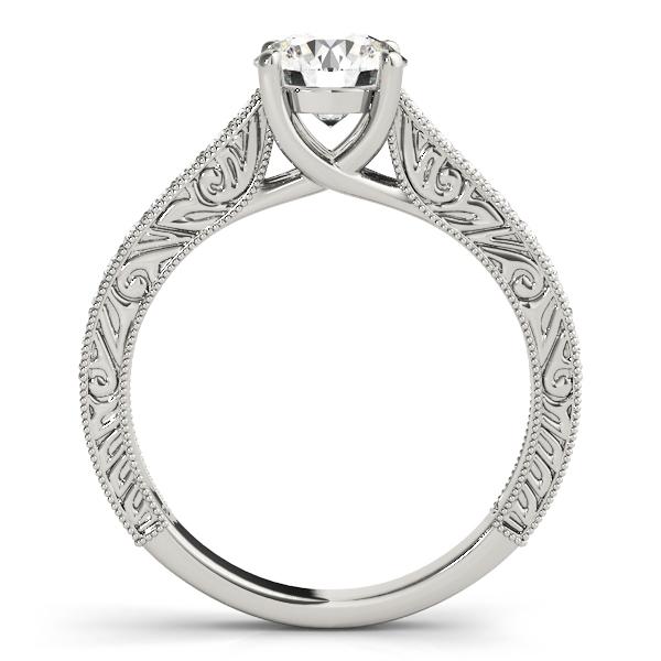 Vintage Round Cut Diamond Engagement Ring Palladium (2.25ct)