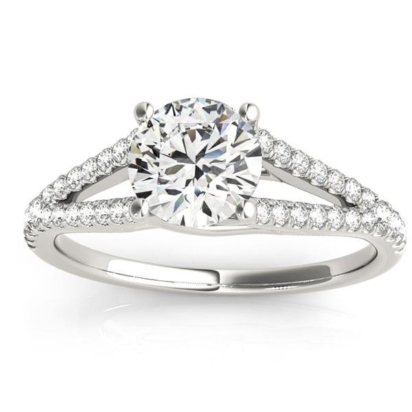 Lucidia Split Shank Multirow Engagement Ring Platinum (0.18ct)