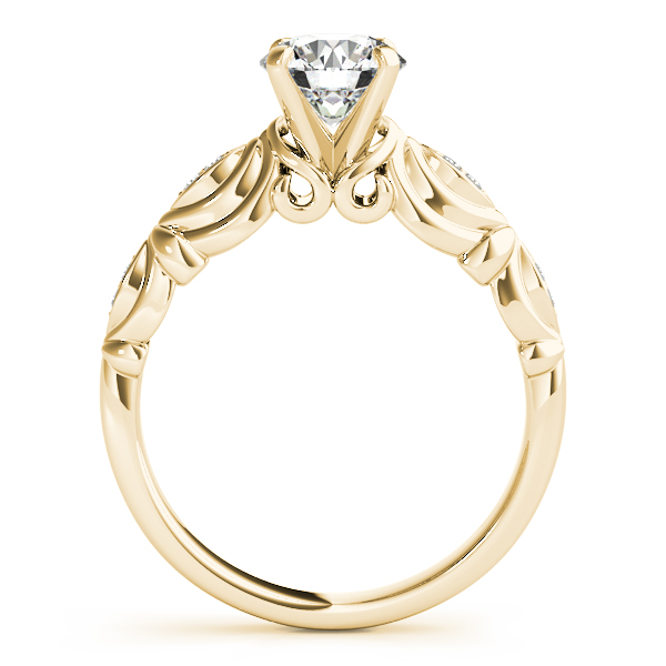 Vintage Solitaire Engagement Ring Bridal Set 18k Yellow Gold (2.15ct)