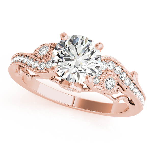 Vintage Swirl Diamond Engagement Ring 18k Rose Gold (2.20ct)