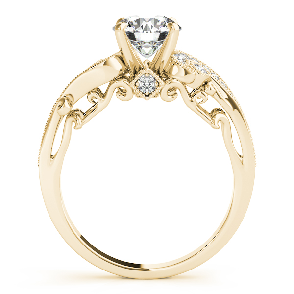 Vintage Swirl Diamond Engagement Ring 18k Yellow Gold (2.20ct)