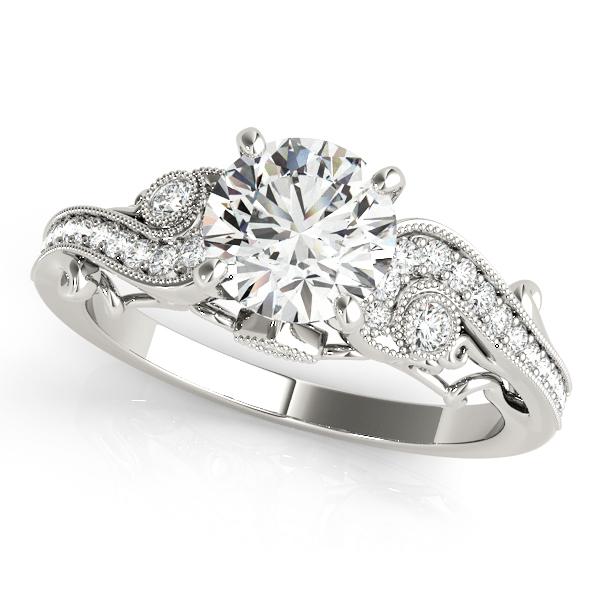 Vintage Swirl Diamond Engagement Ring Platinum (2.20ct)