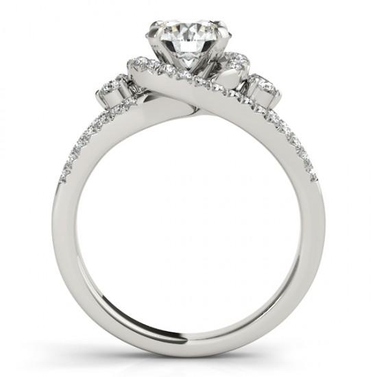 Diamond Split Shank Engagement Ring Twisted in Platinum (0.75ct)