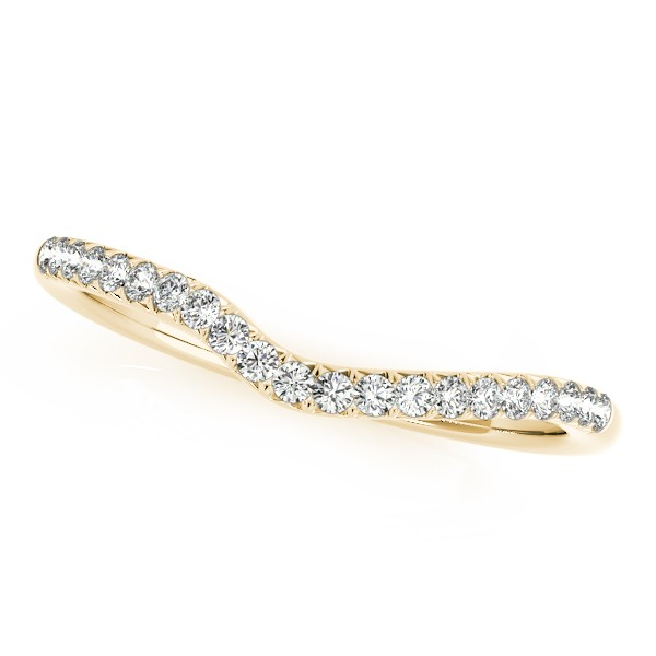 Semi Eternity Contour Diamond Wedding Ring in 14k Yellow Gold (0.25ct)