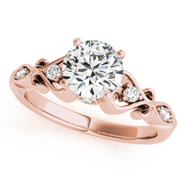 ce05c78b8967c Round Solitaire Diamond Heart Engagement Ring 18k Rose Gold (2.10ct)