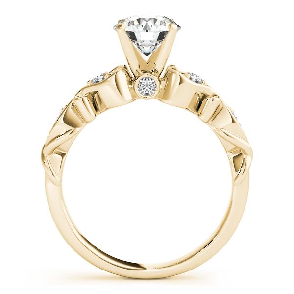Round Diamond & Heart Engagement Ring Bridal Set 14k Yellow Gold (2.15ct)