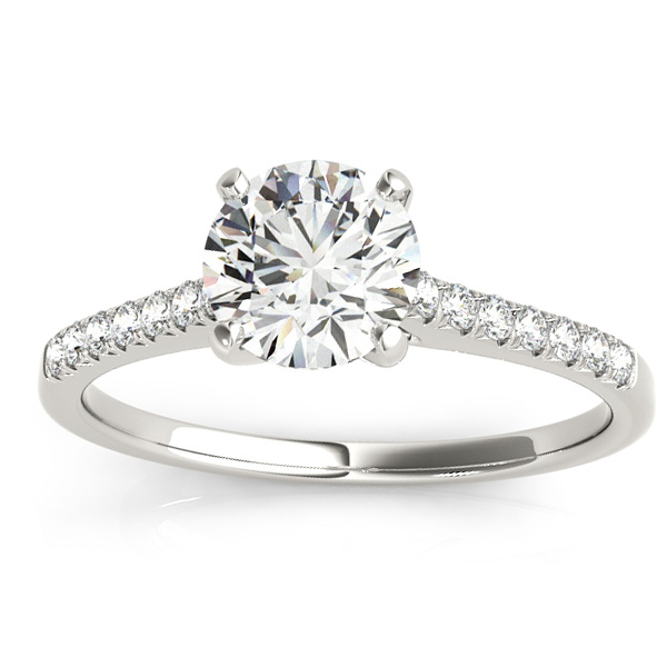 Diamond Single Row Engagement Ring Platinum (0.11ct)