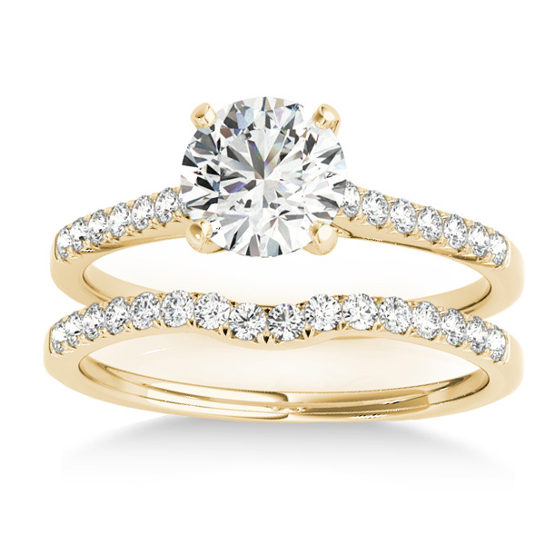 Diamond Single Row Bridal Set 18k Yellow Gold (0.22ct)