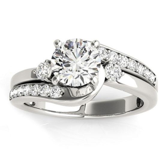 Large Swirl Diamond Ring