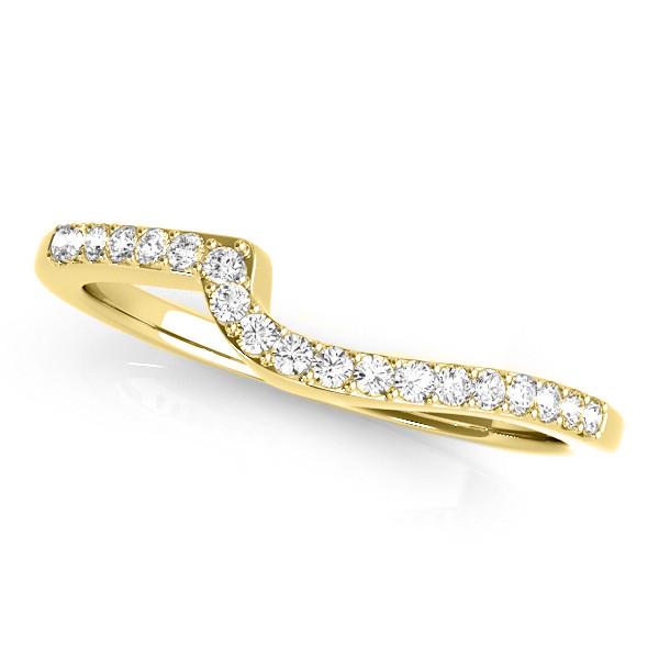 Diamond Swirl Engagement Ring & Band Bridal Set 14k Yellow Gold 0.50ct