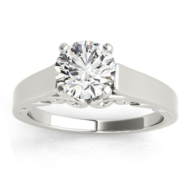 Bridal Antique Solitaire Engagement Ring Platinum