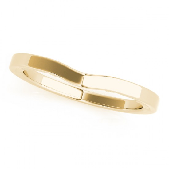 Curved Wedding Band 14k Yellow Gold