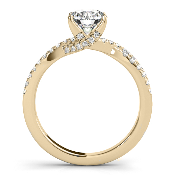 Round Diamond Engagement Ring & Band Bridal Set 14k Yellow Gold 1.32ct