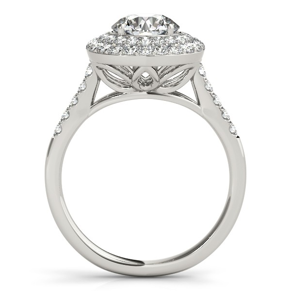 Diamond Double Halo Ring and Band Bridal Set 14k White Gold (3.20ct)