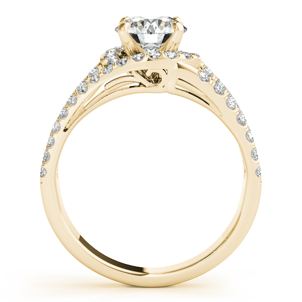 Wide Triple Band Diamond Engagement Ring 14k Yellow Gold (2.13ct)