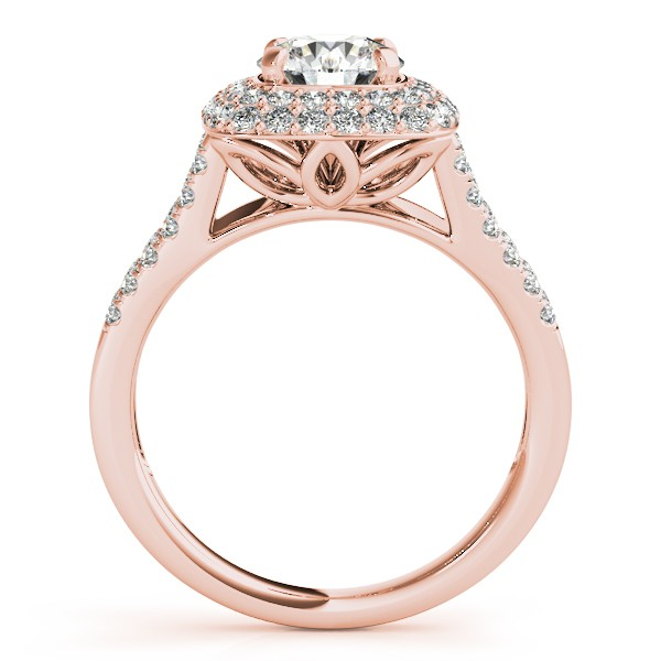 Split Shank Square Halo Diamond Engagement Ring 14k Rose Gold 2 00ct