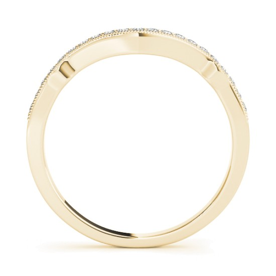 Diamond Accented Contoured Wedding Band in 14k White Gold (0.17ct)