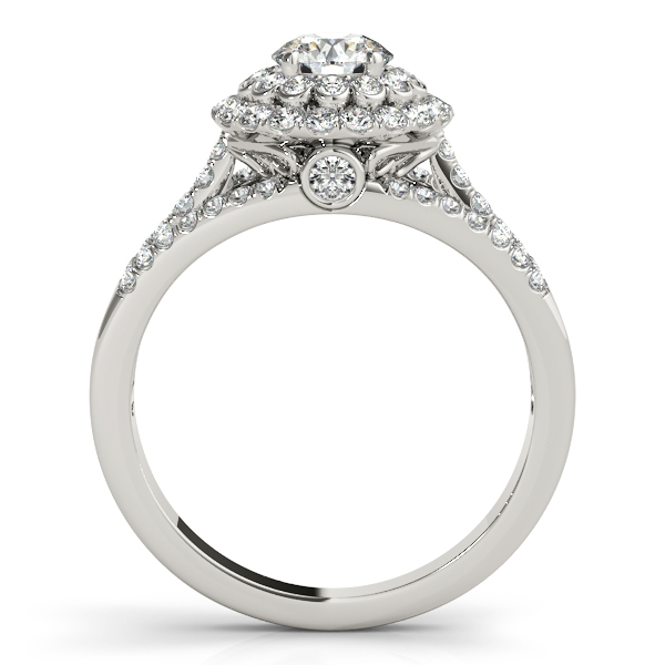 Fairy Tale Diamond Engagement Ring & Band Bridal Set 14k W Gold 1.25ct