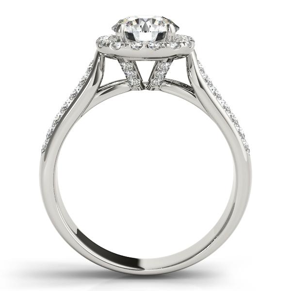 Three Row Round Halo Diamond Engagement Ring Palladium (1.75ct)