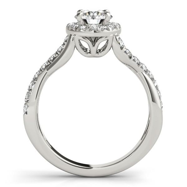 Diamond Twisted Halo Engagement Ring Setting in Palladium (0.33ct)
