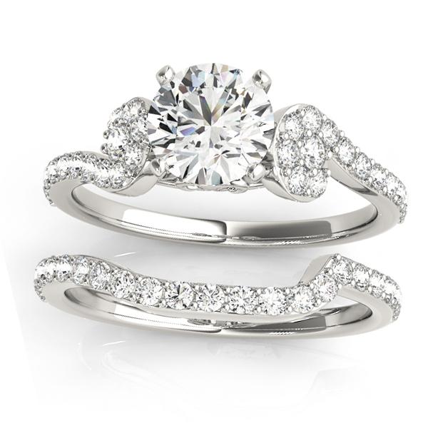 Diamond Single Row Bridal Set Setting Platinum (0.68 ct)