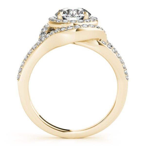 Diamond Engagement Ring Setting & Wedding Band 14k Yellow Gold 1.06ct