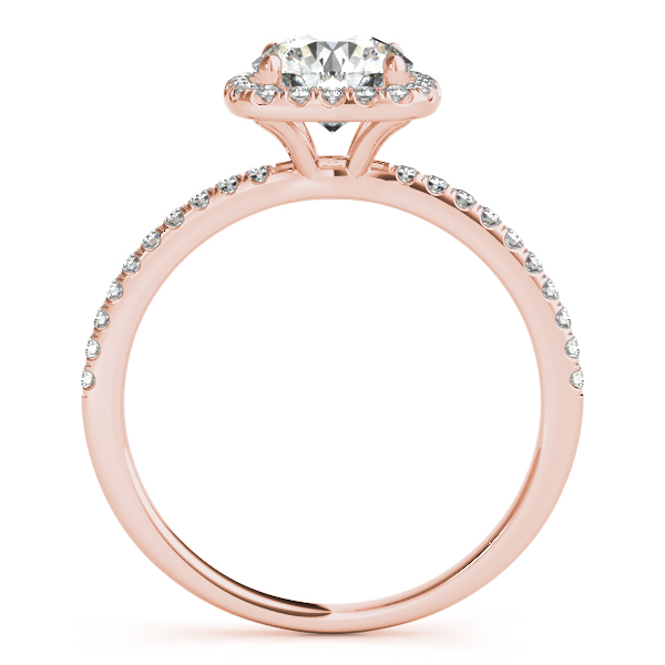 Square Halo Round Diamond Engagement Ring 14k Rose Gold 1 75ct