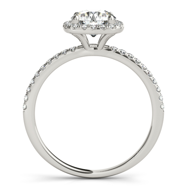 Square Halo Round Diamond Engagement Ring 14k White Gold 1.75ct