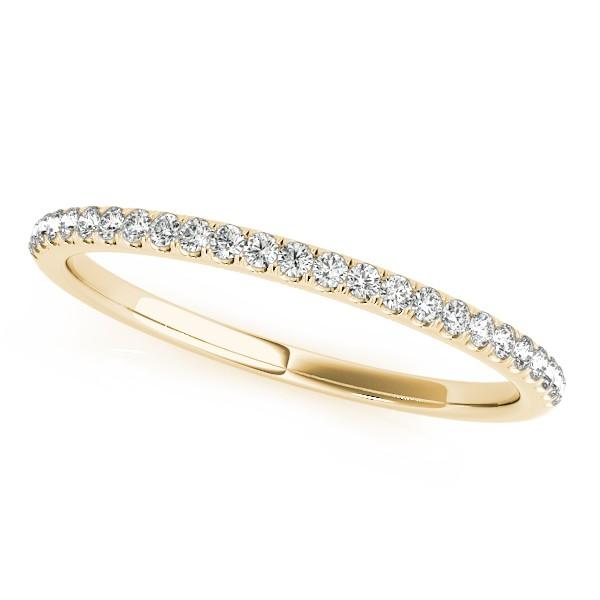 Lab Grown Diamond Accented Semi Eternity Wedding Band 18k Yellow Gold (0.13ct)
