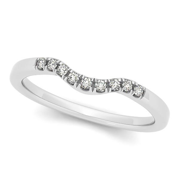 Circle Halo Diamond Bridal Set Ring & Band 14k White Gold 0.60ct
