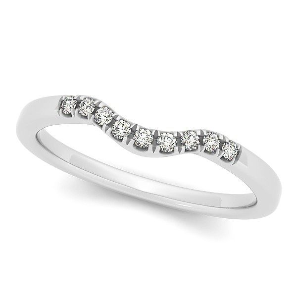 Diamond Semi Eternity Wedding Band in 14k White Gold (0.10ct)