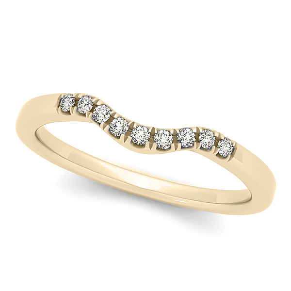 Diamond Semi Eternity  Wedding Band in 14k Yellow Gold (0.10ct)