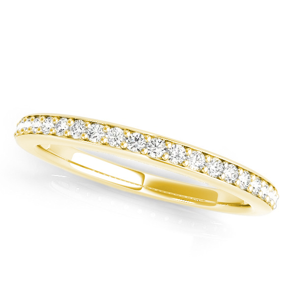 Split Shank Diamond Side Stone Bridal Set 14k Yellow Gold 0.92ct
