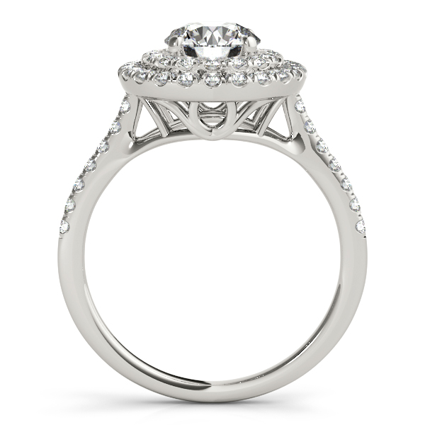 Diamond Double Halo Bridal Set Setting Palladium (0.50ct)