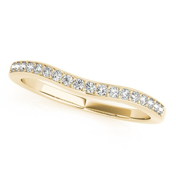 Diamond Contour Semi Eternity Wedding Band in 14k Yellow Gold 0.25ct