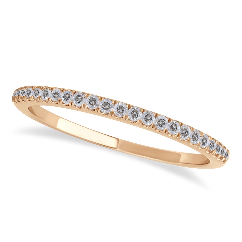 Salt & Pepper Diamond Accented Wedding Band 14k Rose Gold (0.14ct)