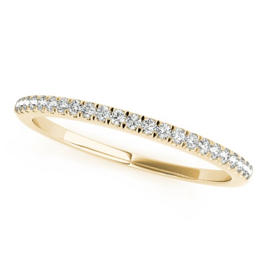 Diamond Prong Wedding Band 18k Yellow Gold (0.14ct)