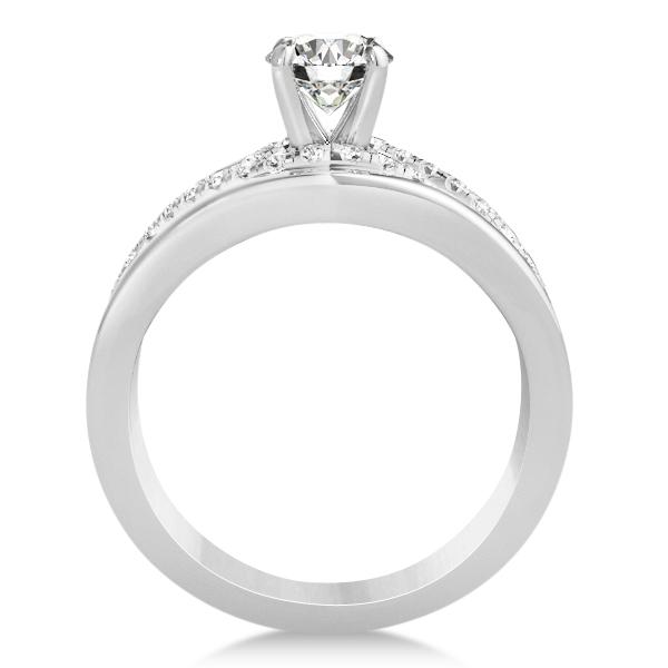Split Shank & Twisted Infinity Engagement Ring Palladium (0.25ct)