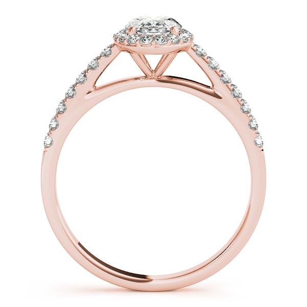 Diamond Halo Oval Shape Engagement Ring 14k Rose Gold 1 00ct Allurez