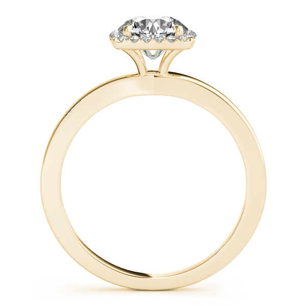 Diamond Square Halo Bridal Set 18k Yellow Gold (1.26ct)
