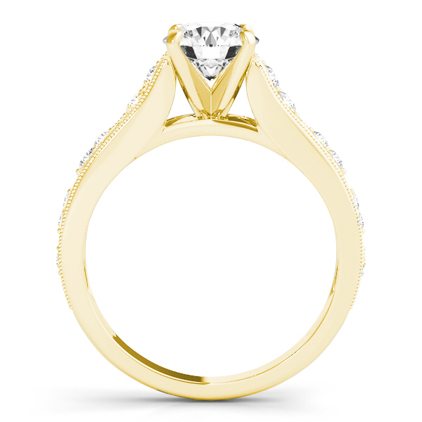 Graduating Diamond Side Stone Engagement Ring 14k Yellow Gold (0.20ct)