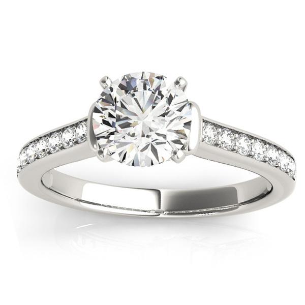 Diamond Accent Engagement Ring Platinum (0.22ct)