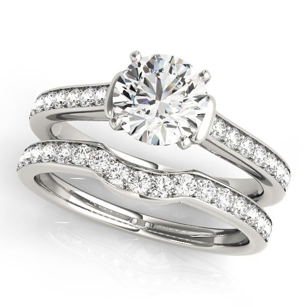 Diamond Accent Bridal Set 14k White Gold (0.98ct)