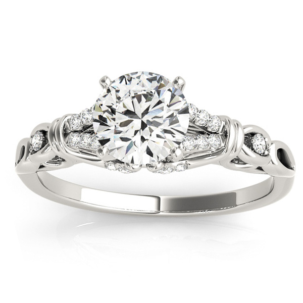 Diamond Antique Style Engagement Ring Setting Palladium(0.14ct)
