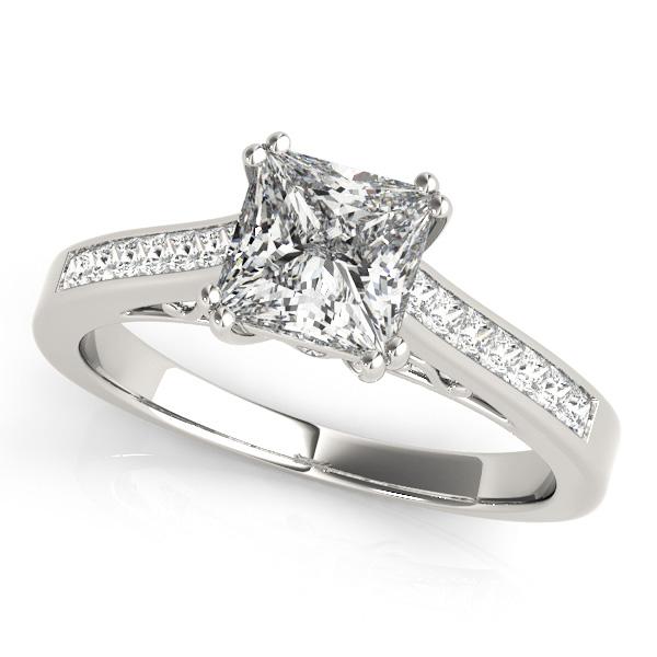 86759560b3cae Double Prong Princess-Cut Diamond Engagement Ring 14k White Gold (1.25ct)