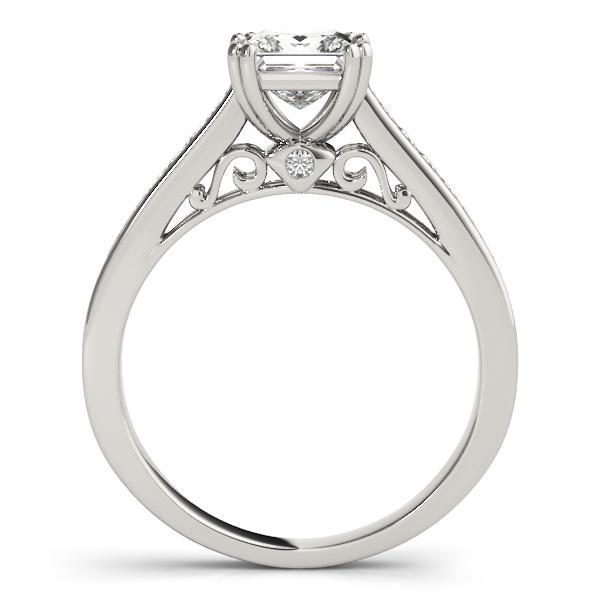 Double Prong Princess-Cut Diamond Bridal Set 14k White Gold (1.50ct)